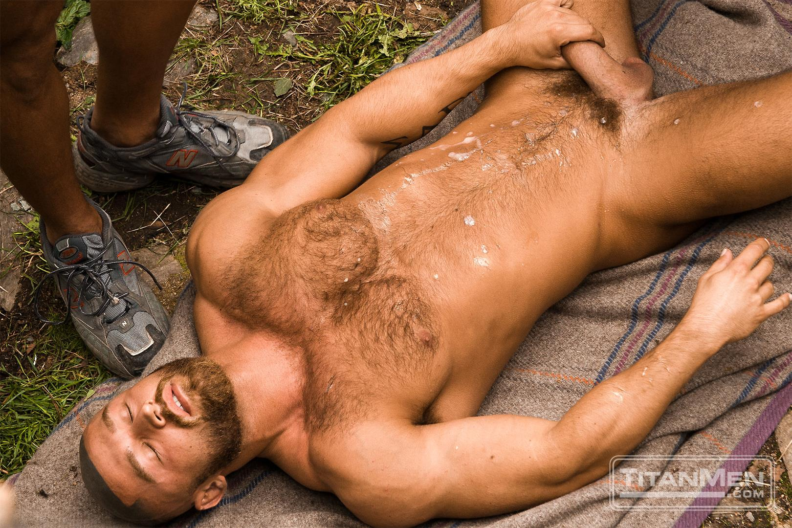 hairy men naked cumshot