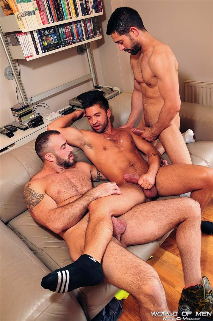 Gay three cocks in ass