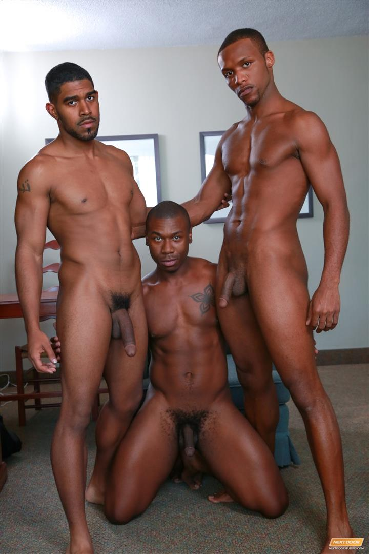 Naked men buff big black