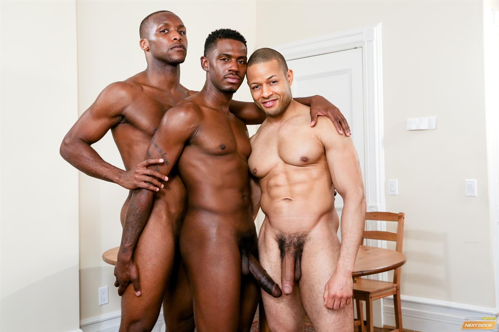 Next-Door-Ebony-Krave-Moore-and-Andre-Donovan-and-Rex-Cobra-Big-Black-Cock-Amateur-Gay-Porn-07 Three Black Guys Playing Strip Dominoes With Their Big Black Cocks