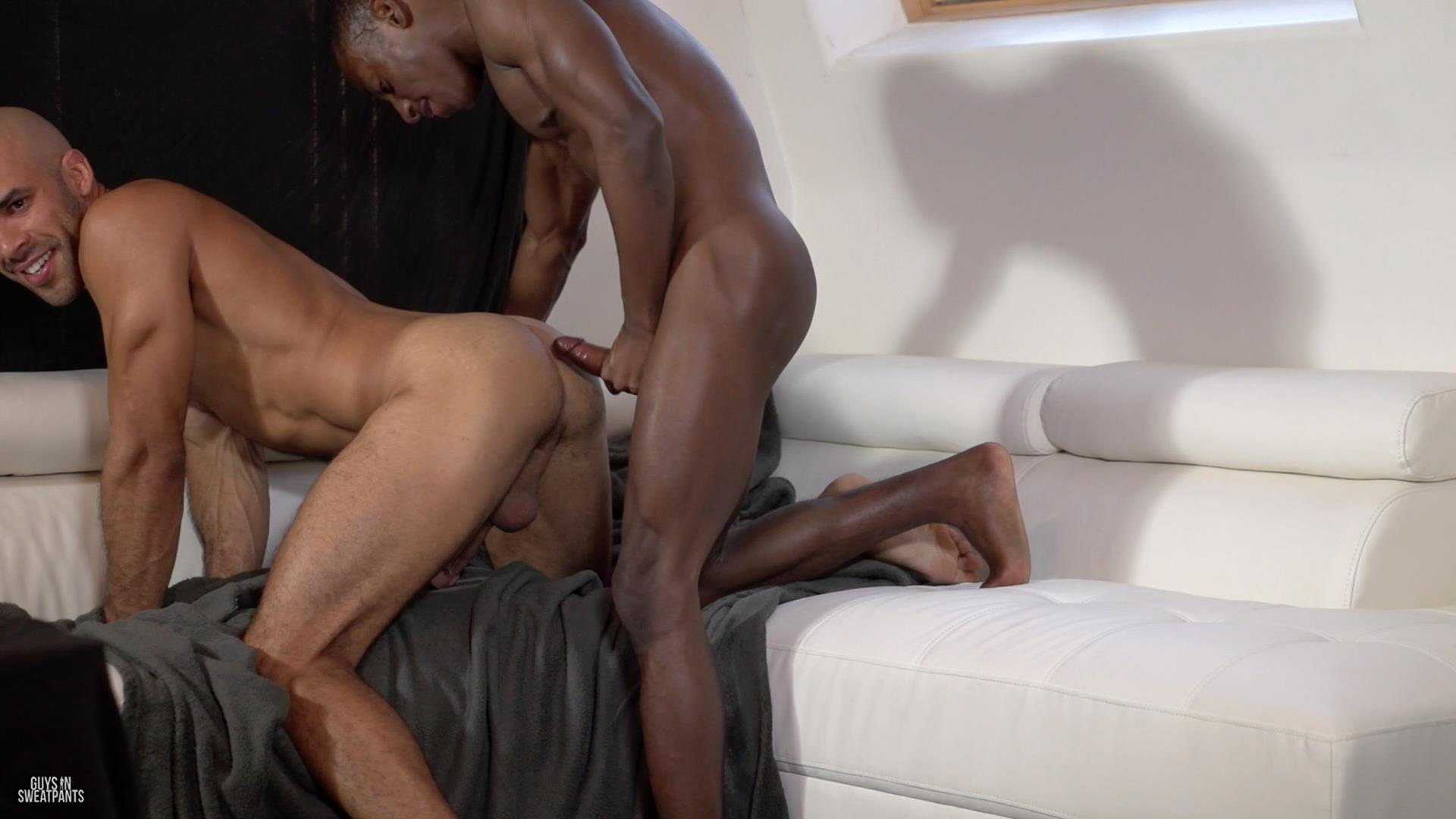 Guys-in-Sweatpants-Austin-Wilde-and-Liam-Cyber-Bareback-Interracial-Sex-Amateur-Gay-Porn-05 Austin Wilde Takes A Big Black Bareback Cock Up The Ass
