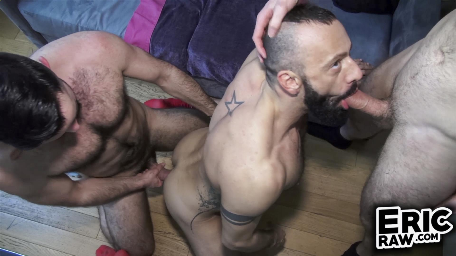 gay raw threesome porn