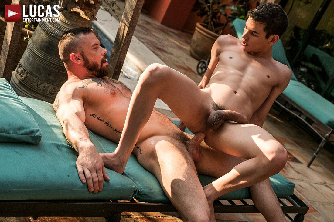 Lucas-Entertainment-Ricky-Verez-and-Sergeant-Miles-Bareback-Sex-12 Sergeant Miles Breeds A Much Younger Man With His Fat Cock