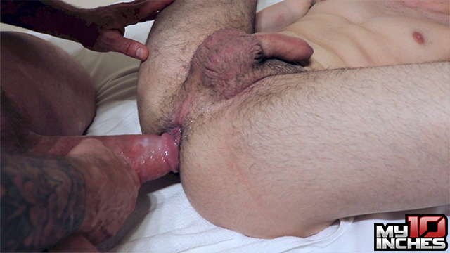 My-10-Inches-Rocco-Steele-and-Rafa-Marco-Big-Cock-Bareback-Sex-12 Muscle Daddy Rocco Steele Breeds A Hot Spanish Ass