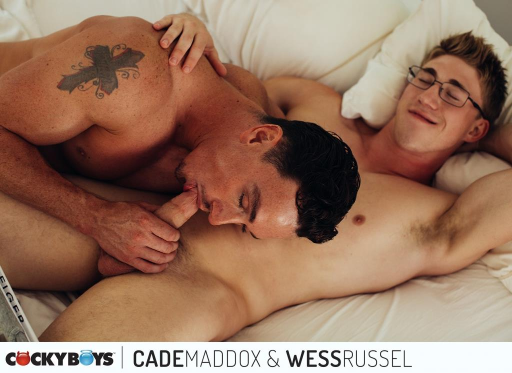 Cockyboys-Wess-Russel-and-Cade-Maddox-Thick-Cock-Muscle-Boys-Fucking-11 Cockyboys: Wess Russel Takes Cade Maddox's Thick Cock