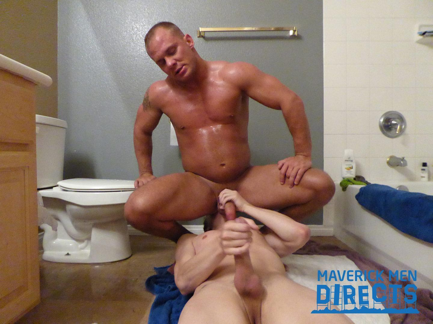 Maverick-Men-Directs-Big-Dick-Daddy-Fucking-A-Twink-In-The-Shower-Gay-Sex-12 Muscle Daddy Breeds His Sexy Twink Boy In The Shower
