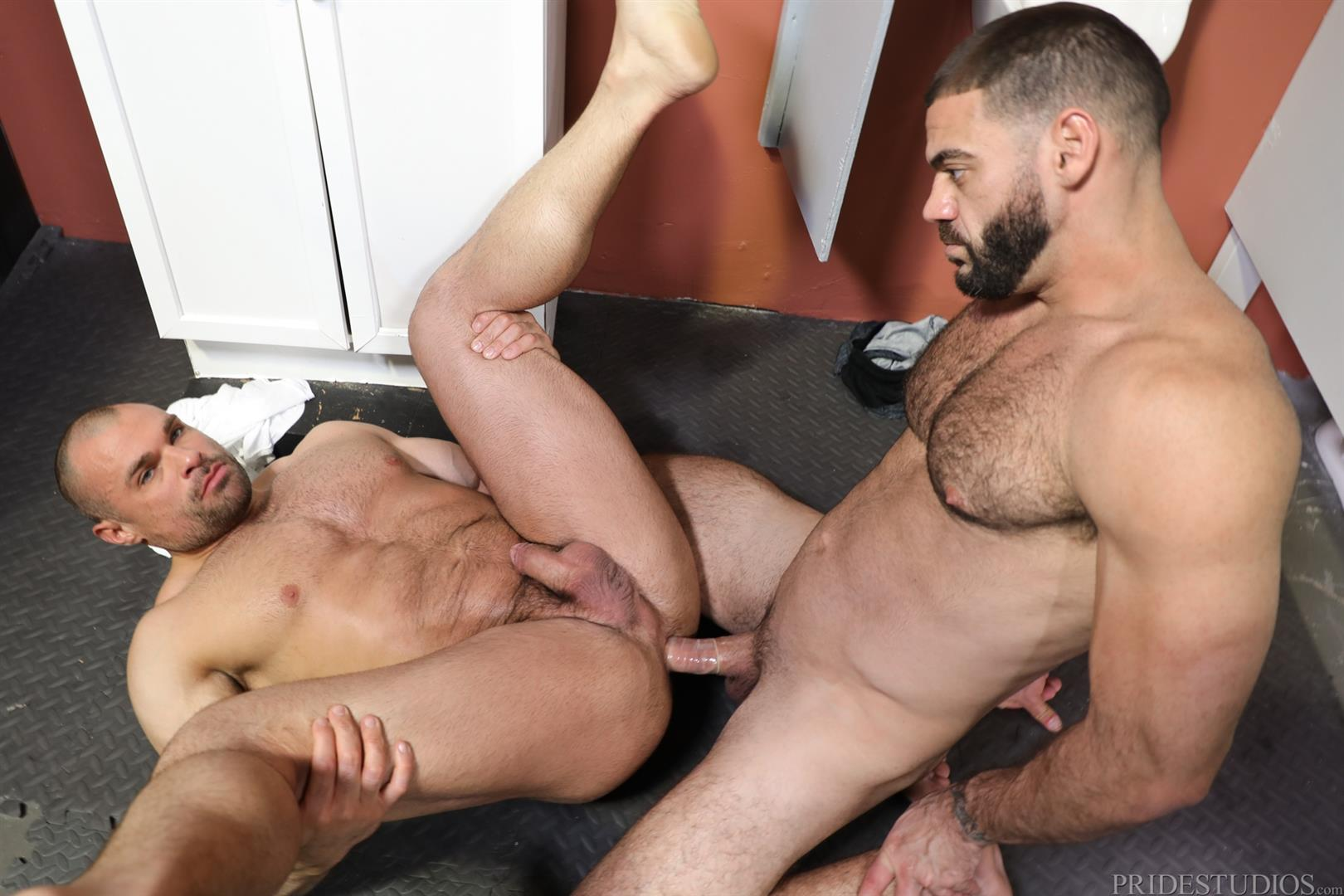 Men-Over-30-Ricky-Larkin-and-Jaxx-Thanatos-Sucking-and-Fucking-At-A-Glory-Hole-13 Hairy Muscle Hunk Jaxx Thanatos Sucks Cock And Gets His Ass Fucked Through A Glory Hole