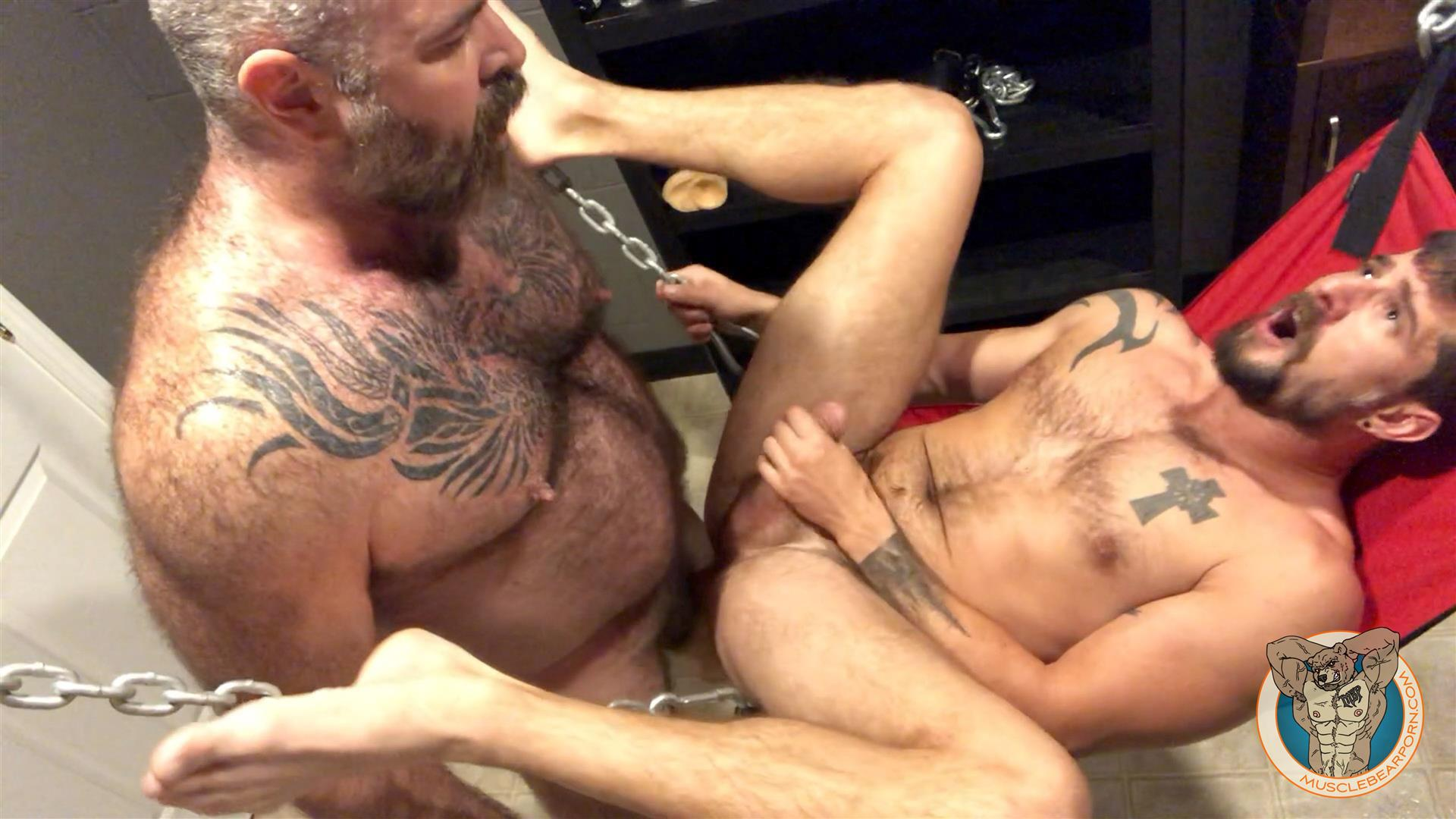 Muscle-Bear-Porn-Will-Angell-and-Sean-Maygers-Hairy-Muscle-Daddy-Breeding-Boy-3 Daddy Will Angell Breeds His Boy Sean Maygers In The Sling